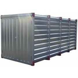Container chantier - Conteneur de stockage 5m - Bungalow galvanisé démontable