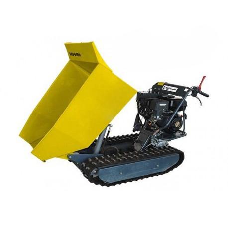Mini Dumper Chenilles 500kg Bennage Hydraulique 9ch Brouette Transporteur