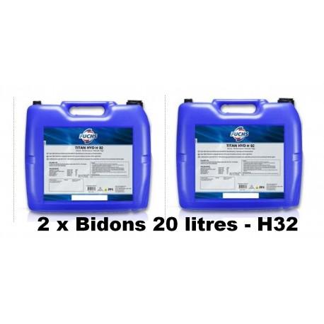 Huile hydraulique H32 - 40 litres