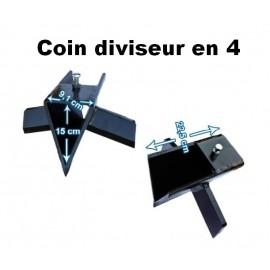 Coin diviseur en 4 - 13/15/16/18/22T