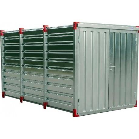Container chantier - Conteneur de stockage 4m - Bungalow galvanisé démontable