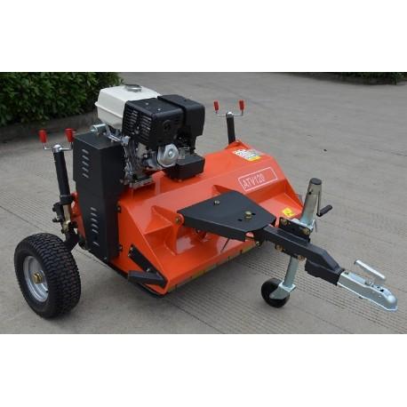 Tondo Broyeur Quad ATV 120 OT – 15cv élec OPEN TOP Rouge, Roue jockey, Double manivelle