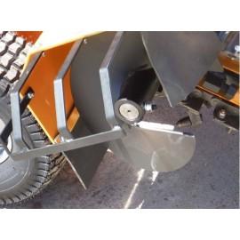 Trancheuse de sol thermique à chaines LUMAG GF800 – 60cm 15cv