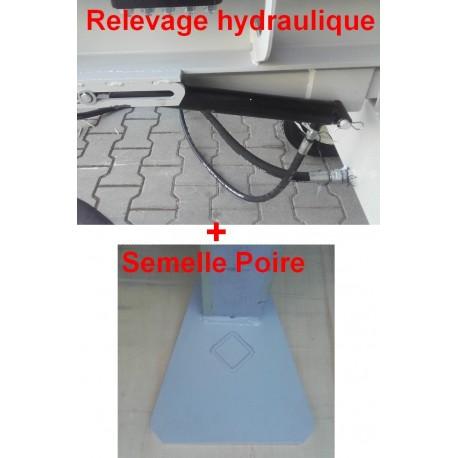 Relevage hydraulique + Semelle Poire HOS36