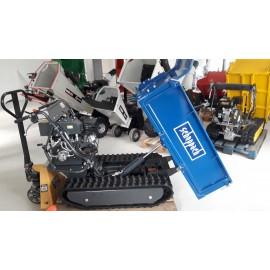 Mini Dumper chenilles SCHEPPACH DP6000 - 500kg Bennage hydraulique 9ch avec caisse à ridelles - Brouette Transporteur