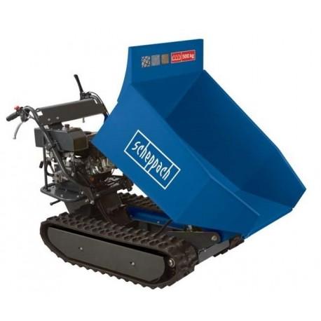 Mini Dumper Chenilles Scheppach 500kg Bennage Hydraulique 9ch Brouette Transporteur