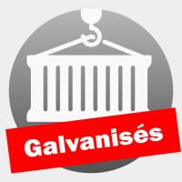 Conteneurs de stockage galvanisés